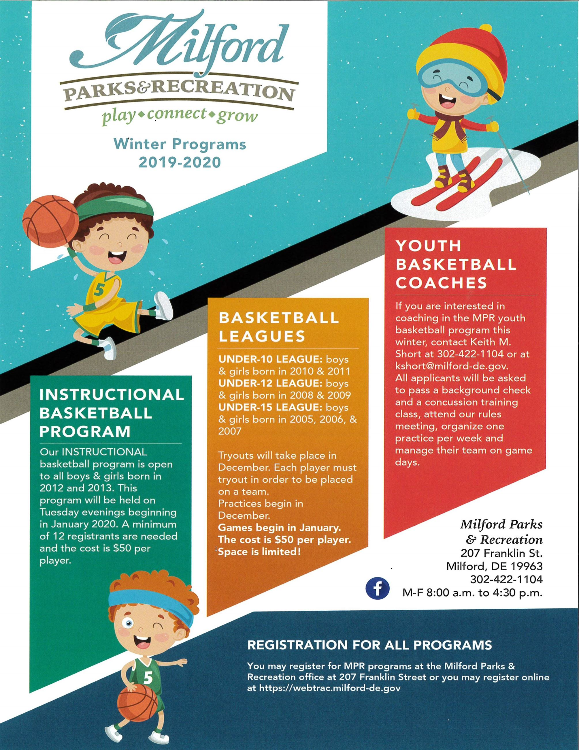 2019 Parks and Rec Winter Program pg 1