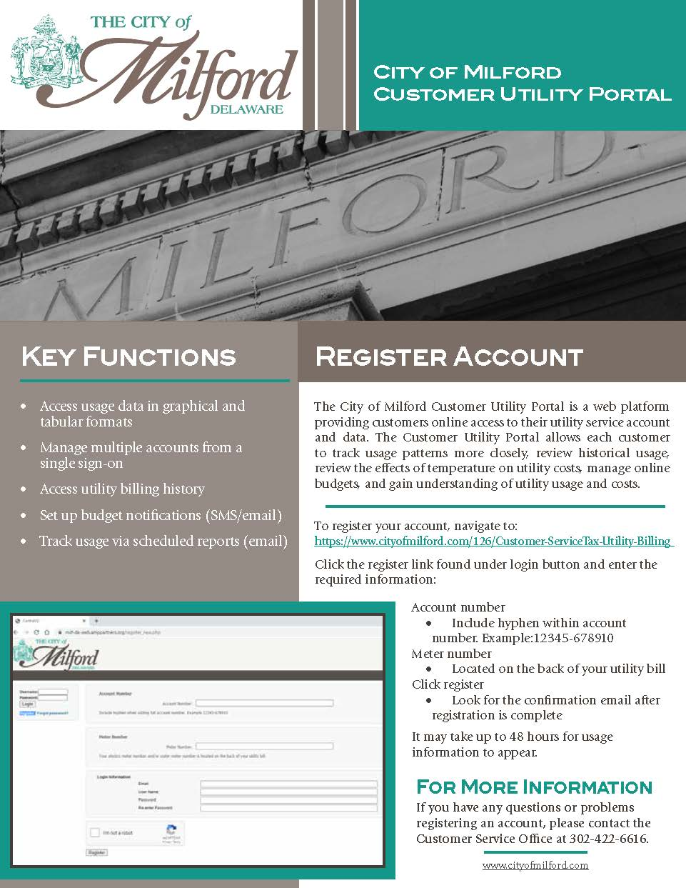 Customer Utility Portal Flyer